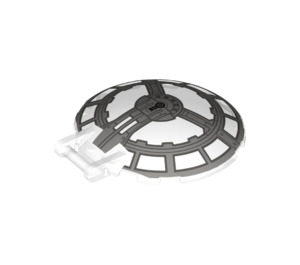 LEGO Dish 6 x 6 Inverted with Handle with Decoration (18675 / 35117)