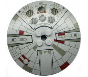 LEGO Dish 8 x 8 Inverted with Millennium Falcon Decoration (3961)