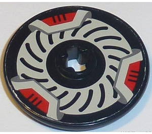 LEGO Disk 3 x 3 with White and Red Brake Rotor Sticker from Set 8520 (2723)