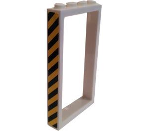 LEGO Door Frame 1 x 4 x 6 with Hazard Stripes (Left) Sticker Single Sided (60596)