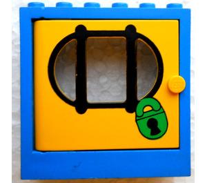 LEGO Door Frame 2 x 6 x 5 with Yellow Door with Sticker