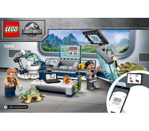 LEGO Dr. Wu's Lab: Baby Dinosaurs Breakout Set 75939 Instructions
