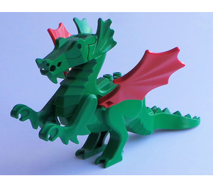 LEGO Dragon Complete Assembly with Red Wings