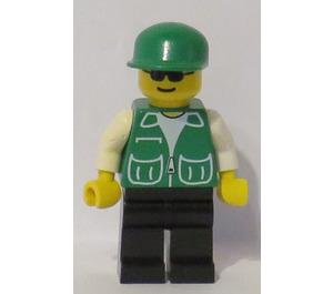 LEGO Dragon Fly Mechanic, Green Jacket Minifigure