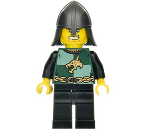 LEGO Dragon Knight with Helmet and Sneer Minifigure
