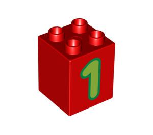 LEGO Duplo Brick 2 x 2 x 2 with Decoration (11939 / 31110)