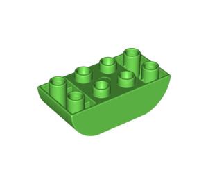LEGO Duplo Brick 2 x 4 with Curved Bottom (98224)