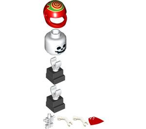 LEGO El Fuego Skeleton with Cape Minifigure