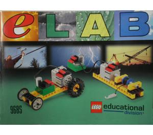 LEGO eLAB Green Car Set 9685 Instructions