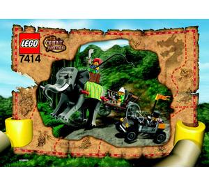 LEGO Elephant Caravan Set 7414 Instructions