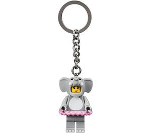LEGO Elephant Girl Key Chain (853905)