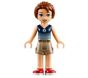 LEGO Emily Jones with Dark Tan Shorts and Dark Blue Top Minifigure