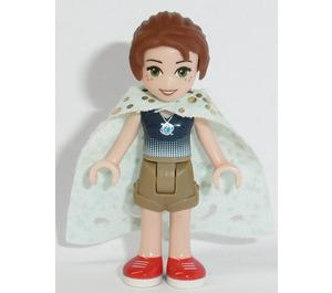 LEGO Emily Jones with Dark Tan Shorts, Dark Blue Top and Cape Minifigure