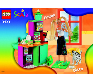LEGO Emma's Chill-Out Kitchen Set 3123 Instructions