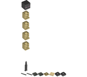 LEGO Enderman with Endstone Minifigure
