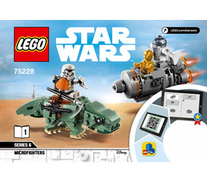 LEGO Escape Pod vs. Dewback Microfighters Set 75228 Instructions
