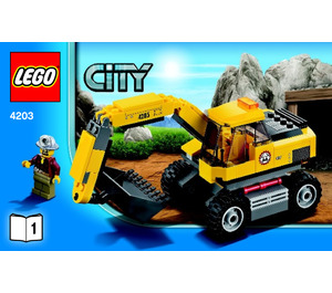 LEGO Excavator Transporter Set 4203 Instructions