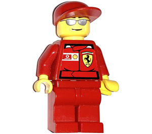 LEGO F1 Ferrari Engineer with Torso Stickers Minifigure