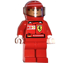 LEGO F1 Ferrari M. Schumacher with Helmet and Torso Stickers Minifigure