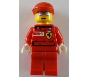 LEGO F1 Ferrari Pit Crew with Stickered Ferrari Logo Torso Minifigure