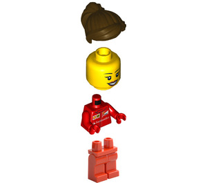 LEGO F14 T & Scuderia Ferrari Truck Female Crew Member Minifigure
