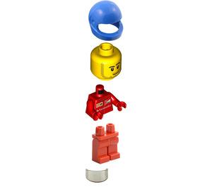 LEGO F14 T & Scuderia Ferrari Truck Scooter Driver Minifigure
