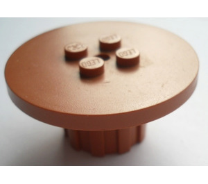 LEGO Fabuland Brown Round Table with studs in center