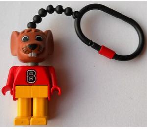 LEGO Fabuland Mouse Keychain with Plastic Chain - LEGO logo on Back