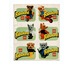 LEGO Fabuland sticker sheet with 6 Minifig Labels