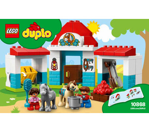 LEGO Farm Pony Stable Set 10868 Instructions