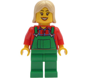 LEGO Female Farmer Green Overall Minifigure