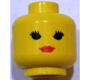 LEGO Female Head with Red Lipstick (Safety Stud) (3626)