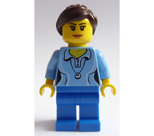 LEGO Female In Blue Clothes and Wearing A Pendant Minifigure