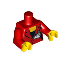 "LEGO Female Minifig Torso with ""Press""-Badge (76382)"