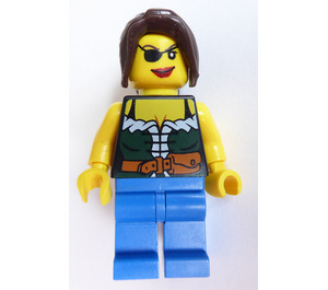 LEGO Female Pirate with Green Corset and Eyepatch Minifigure