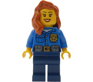 LEGO Female Police Officer - Dark Orange Hair Minifigure