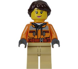 LEGO Female TV Camera Operator Minifigure