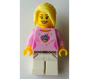 LEGO Female with Pink Top Minifigure