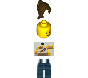 LEGO Female with Yellow Flowers Torso with 2011 The LEGO Store Pleasanton, CA Pattern on Back Minifigure