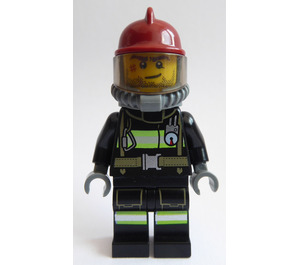 LEGO Firefighter Male Dark Red Helmet Minifigure
