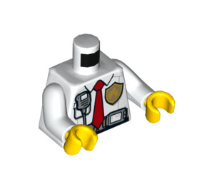 LEGO Firefighter Torso with Walkie Talkie and Tie (76382)