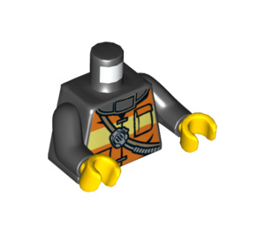 LEGO Fireman's Torso with Orange and Yellow Safety Vest (76382)