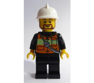 LEGO Fireman with Beard Minifigure