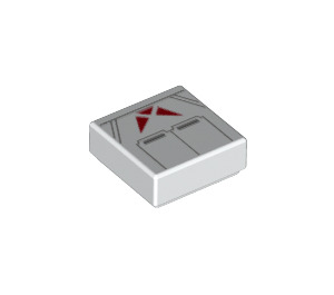 LEGO First Order Jet Trooper Tile 1 x 1 with Groove (3070 / 64193)