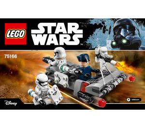 LEGO First Order Transport Speeder Battle Pack Set 75166 Instructions