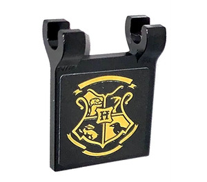 LEGO Flag 2 x 2 with Hogwarts Emblem on both sides Sticker (2335)