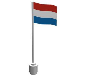 LEGO Flag on Flagpole Type 2 with The Netherlands (777)