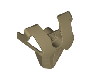 LEGO Flat Dark Gold Bionicle Chest Shield (43558)