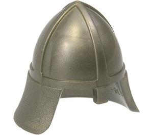 LEGO Flat Silver Knights Helmet with Neck Protector (3844)