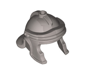 LEGO Flat Silver Minifigure Galea Helmet (98366)